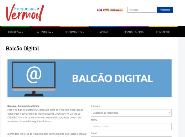 Junta de Freguesia disponibiliza balcão digital